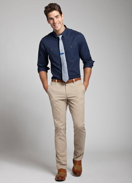 matching tan belt and shoes