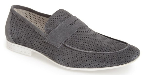 suede grey loafers
