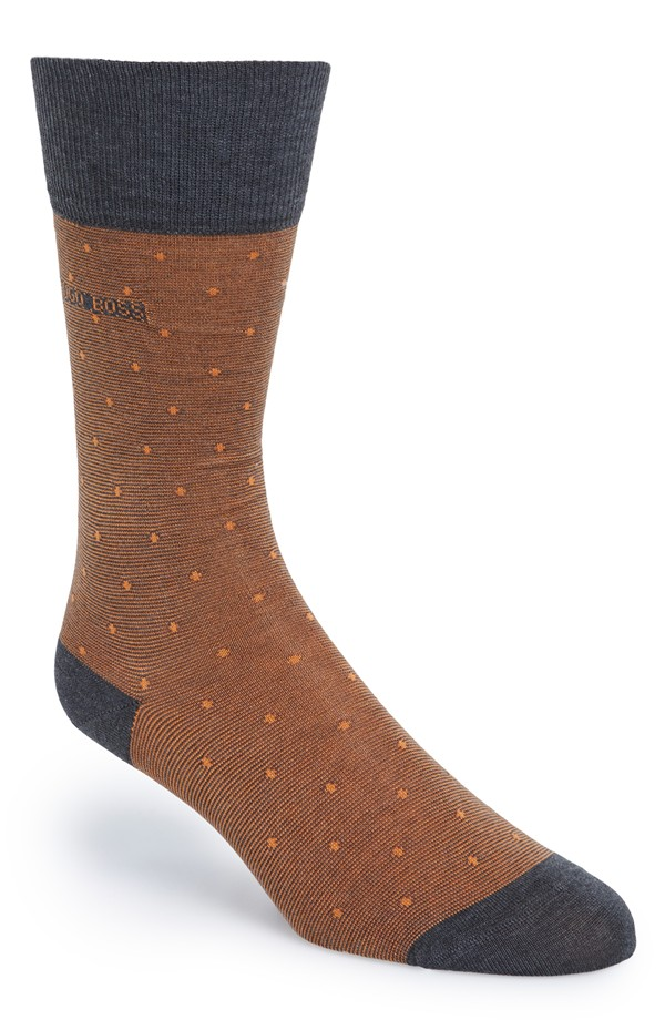 socks to go with brown shoes and grey slacks