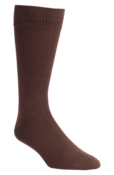 what socks to wear with brown shoes
