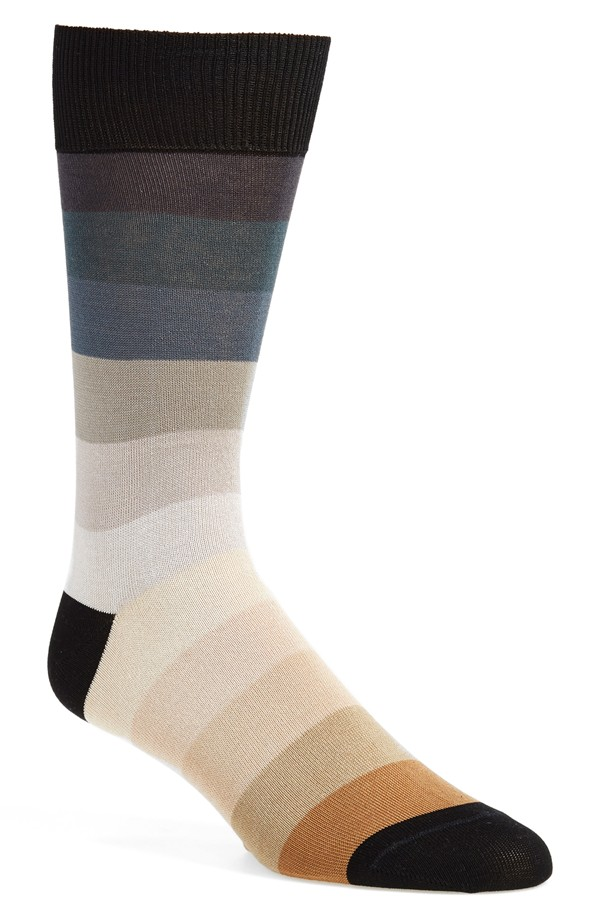 socks to go with brown shoe and grey slacks