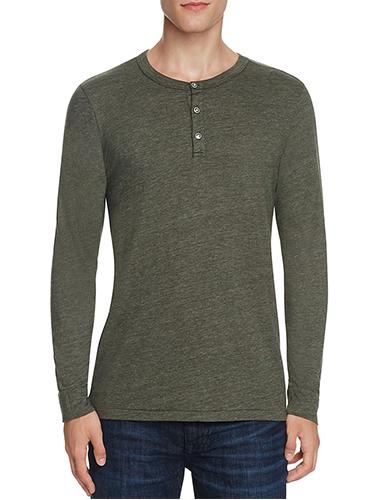 army green henley t-shirt