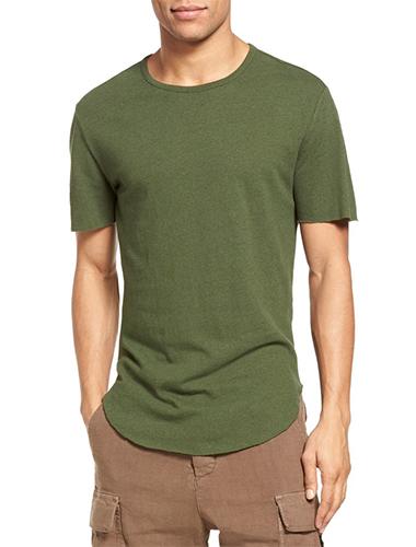 green slim fit t-shirt
