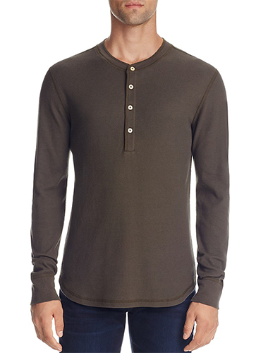 olive green henley t-shirt
