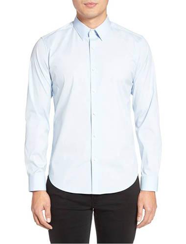 mens trim fit dress shirt