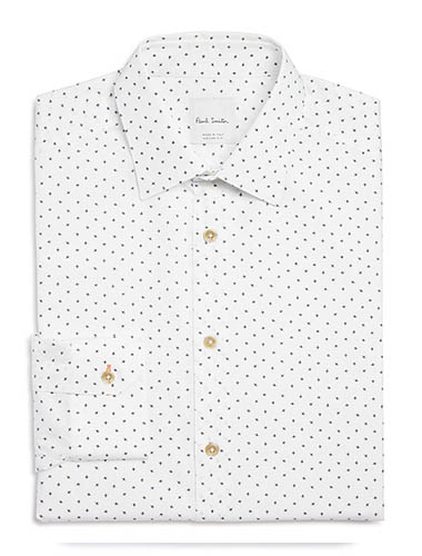 trim fit button up shirt