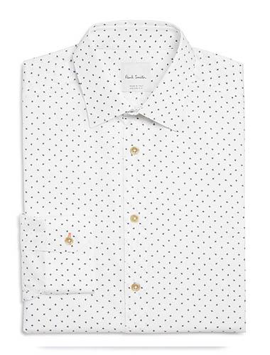 trim fit button up shirt