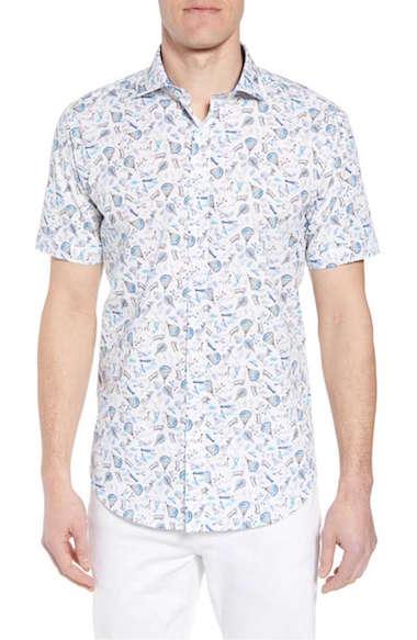 Bugatchi-shaped-fit-flight-print-sport-shirt-capsule-wardrobe-men